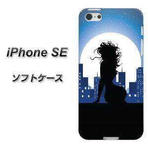 3f66057029 iPhone SE TPU ソフトケース / やわらかカバー【482 夜の窓辺 素材ホワイト】