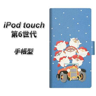 iPod touch(第6世代) スマホケース手帳型/レザー/ケース / カバー【XA803 サンタレンジャー】( iPod touch6 /アイポッドタッチ/手帳式)