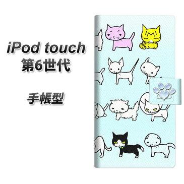 iPod touch(第6世代) スマホケース手帳型/レザー/ケース / カバー【YC836 ねこラブ03】( iPod touch6 /アイポッドタッチ/手帳式)