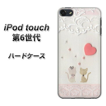 iPod touch 6 第6世代 ハードケース / カバー【1105 クラフト写真 ネコ (ハートS) 素材クリア】 UV印刷 ★高解像度版(iPod touch6/IPODTOUCH6/スマホケース)