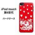 iPod touch 6 第6世代 ハードケース / カバー【AG838 苺兎(赤) 素材クリア】 UV印刷 ★高解像度版(iPod touch6/IPODTOUCH6/スマホケース)