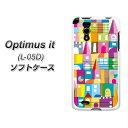 docomo Optimus it L-05D やわらかケース(TPU ソフトケース)【UB943 ジャニーストリート(素材ホワイト)】シリコンケースより堅く、軟性のある優れたスマホケース TPU素材(ドコモ/Optimusit/L05D用/オプティマス イット用/スマホ/ケース/カバー)