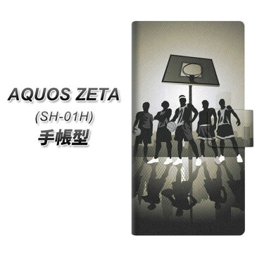 docomo AQUOS ZETA SH-01H 手帳型スマホケース【389 ストリートバスケ】(アクオス ゼータ SH-01H/SH01H/スマホケース/手帳式)