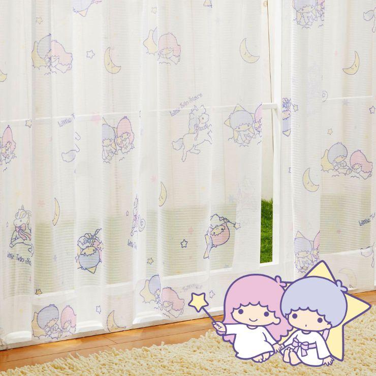 カーテン・ブラインド, レースカーテン  100133cm 2 SanrioZone Little Twin Stars Kiki Lala SB-520-S