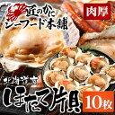海鮮 バーベキューセット 北海道産ほたて片貝(殻付き10枚入)[ ギフト 貝 殻付き ひも 貝柱 帆立 BBQ バーベキュー 炭焼き ]
