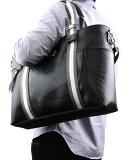 ストライプ トートバッグ/SEAL(シール)【ファスナー付き/A4/大きめ/防水/廃タイヤ/人気/日本製/メンズ/黒】【あす楽】【SEAL store限定商品】【防水鞄】
