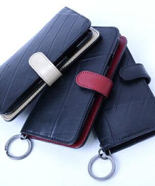 【Xmasイベント開催】 iPhone7・iPhone8ケース diary type メンズ SEAL シール バッグ iPhone7ケース 防水・耐水 廃タイヤ タイヤチューブ 人気 日本製 黒