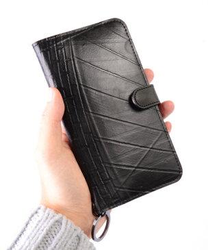 【Xmasイベント開催】 iPhone7・iPhone8 Plusケース diary type メンズ SEAL シール バッグ iPhone7 iPhone8 防水・耐水 廃タイヤ タイヤチューブ 人気 日本製 黒