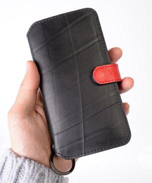 【Xmasイベント開催】 iPhoneXケース diary type メンズ SEAL シール バッグ iPhone7ケース 防水・耐水 廃タイヤ タイヤチューブ 人気 日本製 黒