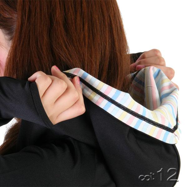【あす楽】IceCreamSportムジ?シャツ生地ロングラッシュガードパーカーUPF50+/指穴/速乾(レディース水着)9342