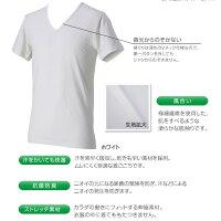 (パケット便送料無料)phiten(ファイテン)RAKUシャツメンズインナーV首半袖・アクアチタン含浸Tシャツ(紳士用)jg039