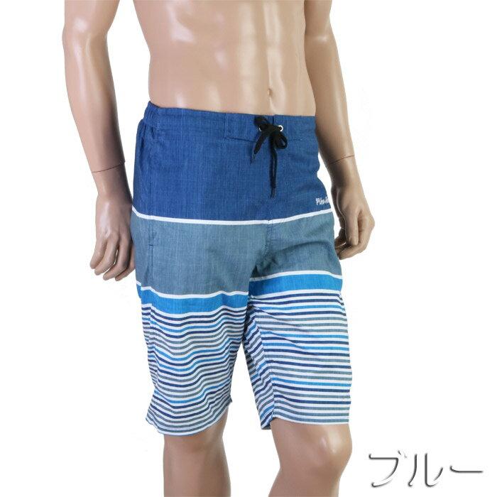 【あす楽】PIKO(ピコー)ボーダーサーフパンツインナー付き(メンズ水着)816003(パケット便送料無料)