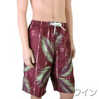【あす楽】(パケット便送料無料)NAMITASU/波達和柄竹林柄サーフパンツインナー付(メンズ水着)X114-734