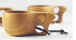 [sealche]アウトドアや登山のお供にハンドメイドマグカップ★2個セット★北欧木製フィンランド雑貨