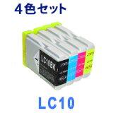 【メール便送料無料】LC10 6本自由選択 LC10-4PK (LC10BK LC10C LC10M LC10Y) インクカートリッジ 互換インク