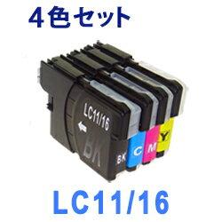 LC11/16 4色セット LC11-4PK LC16-4PK (LC11BK LC11C LC11M LC11Y LC16BK LC16C LC16M LC16Y) インクカートリッジ 互換インク