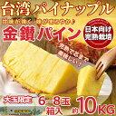 【予約5月中旬】台湾 パイナップル 約10kg 6~8玉箱入