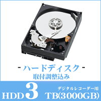 デジタルレコーダー用ハードディスク3TB【HDD】【3000GB】【secuOn】【セキュオン】
