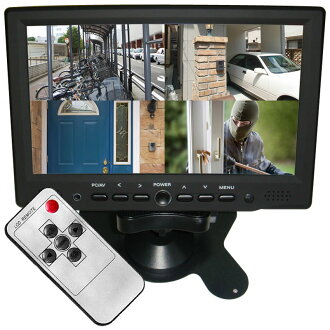 在7英寸LCD監視器★HDMI輸入有★新型★LCD監視器車載用7英寸液晶顯示裝置7英寸TFT液晶顯示器/LCD監視器車載用! 黑色液晶顯示器7英寸監視器SKS-3007
