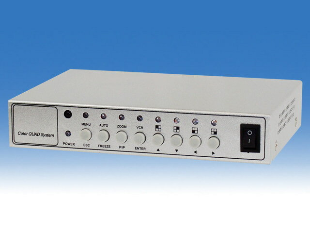 WTW-PQ400R映像分割器リモコン付きタイプ-最大4監視カメラを同時に確認できます-モーションセンサー搭載-順次切替表示(スイッチング)機能搭載