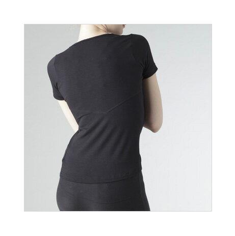 【メール便対応のみ】【送料無料】Colantotte コラントッテ Ladies' Shirt Half Sleevedレディス シャツ ハーフスリーブブラック【smtb-KD】