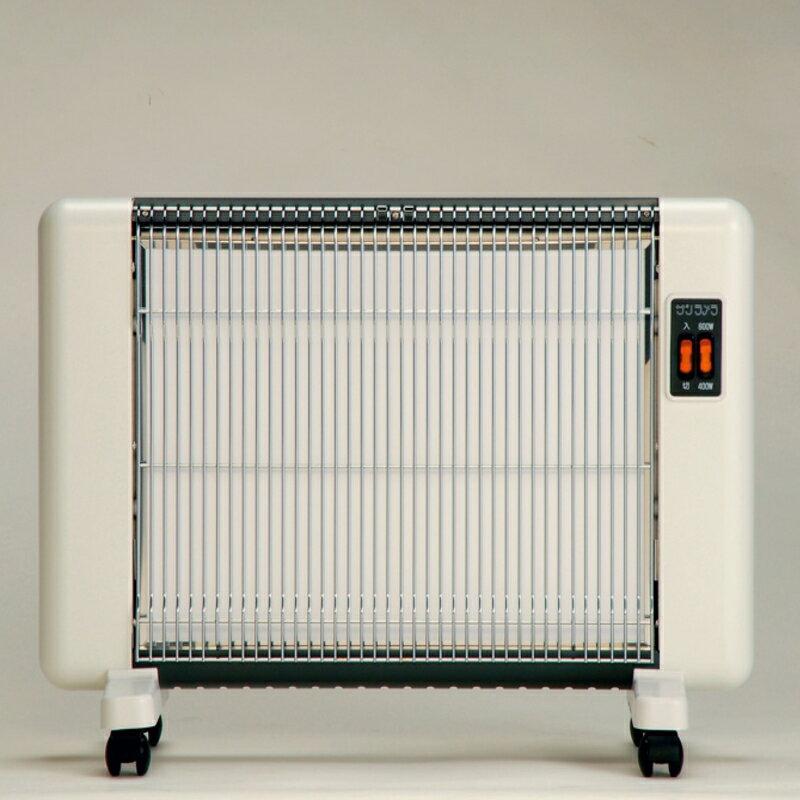 サンラメラ 604型 ホワイト 8畳まで用 600W 遠赤外線ヒーター 暖房機 ф
