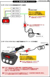 ワンタッチサンキューハザードユニットワンタッチスイッチ付き/バック連動ハザード機能搭載