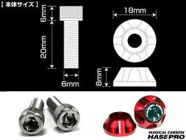 ハセ・プロマジカルカーボンナンバーボルトガーニッシュ2個セットレギュラーカラーアルミ削り出しアルマイト仕上げ