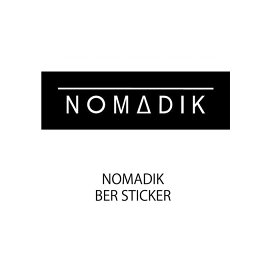 【レターパックライト便】NOMADIK【ノマディック】ステッカー BER STICKER