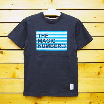 MAGIC NUMBER【マジックナンバー】Tシャツ 【14SS-3024】Border Box Logo Tee カラー:Navy