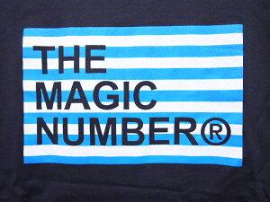 MAGICNUMBER【マジックナンバー】Tシャツ【14SS-3024】BorderBoxLogoTeeカラー:Navy