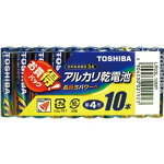 TOSHIBAアルカリ乾電池単四10本入り×3個(30本)【東芝】【定形外郵便】【送料無料】【単三電池・単三乾電池】
