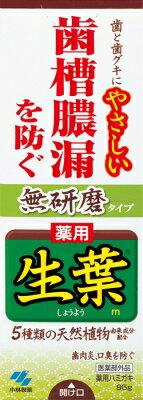 小林製薬 生葉 薬用ハミガキ 無研磨タイプ 95g×96個【送料無料】【オーラル】【歯磨き】【歯ブラシ】