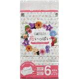 【在庫限り】 花いっぱい ソフトパック ティッシュペーパー 400枚(200組) 6パック入 ×1セット