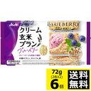 アサヒフード&ヘルス バランスアップクリーム玄米ブランブルーベリー 1袋(2枚×2袋入)×10個