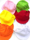 カラー帽子綿混素材(たれ付き)