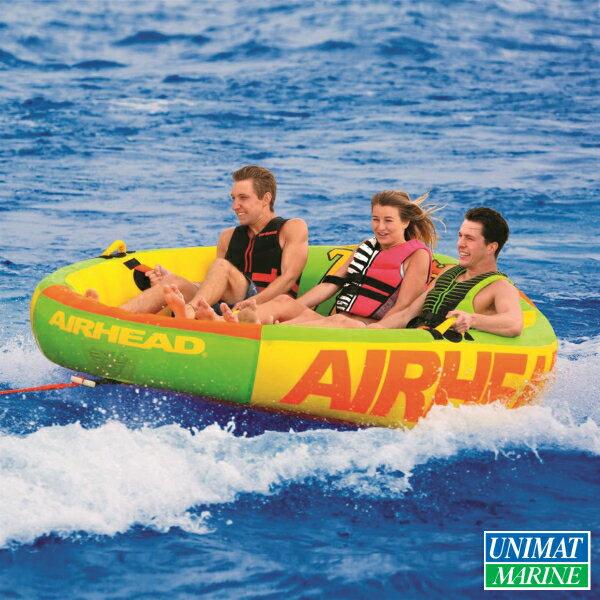 トーイングチューブ Airhead Throne 3 スローン 3人乗り 207×232cm  商品番号:39201 【ユニマットマリン・大沢マリン・ボート用品・船舶】:ユニマットマリン