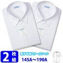 スクールシャツ 半袖 男子 【2枚組】 形態安定 立衿 (A体 145...