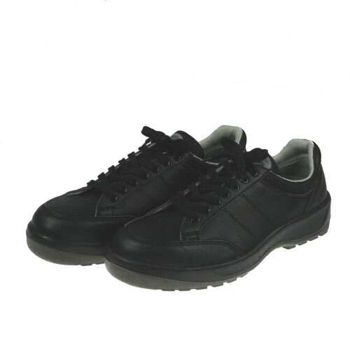 ポリウレタン2層 スニーカータイプ安全靴 ブラック(人工皮革 靴紐タイプ)【D-1005 ダイナステ...