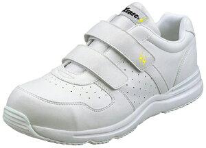 スニーカータイプ安全靴【静電気帯電防止仕様】・・マジックテープタイプです【ホワイト】