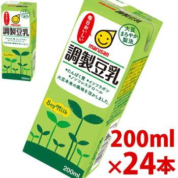 【マルサン】調整豆乳200ml×24パック