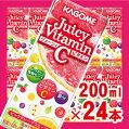 【カゴメ】JuicyVitaminCピンクグレープフルーツ味200ml×24パック(ジューシィビタミン)【jo_62】【】