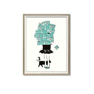 ショッピングガール1Mオマージュキャンバスアートマルティナパブロバスタイリッシュアートアート絵おしゃれキレイ絵画リビング玄関寝室飾りディスプレイ