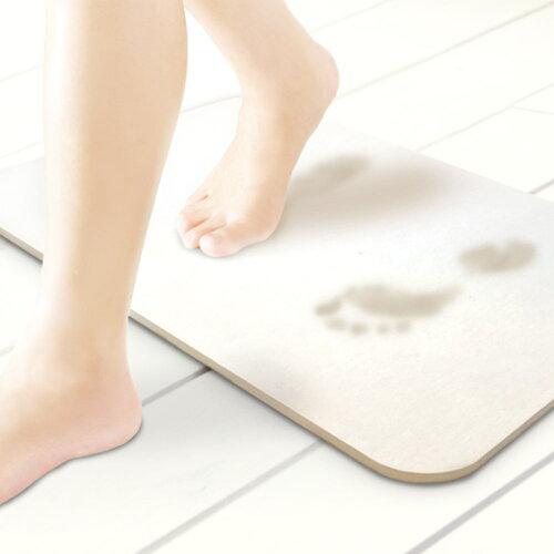 珪藻土バスマットMサイズ|吸水速乾防カビ防ダニバス用品お風呂洗面所バスルームマットおしゃれ脱衣所