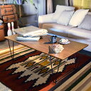 コーヒーテーブル アーロン | おしゃれ テーブル 木製 ローテーブル スチール ロー インテリア 家具 木製テーブル 木 スチール脚 オシャレ家具 ナチュラル テイスト センターテーブル リビング