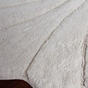 コットン製シェルトイレマット60×73cmアイボリー[貝殻海トイレファブリックおしゃれかわいいシンプルナチュラル]