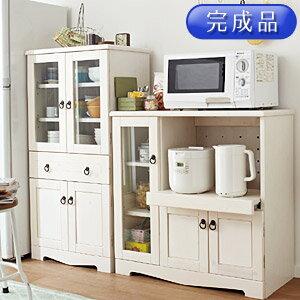 食器棚 ミニ 幅85cm 完成品 高さ85cm アンティーク 開戸タイプ ナチュラル カントリー...
