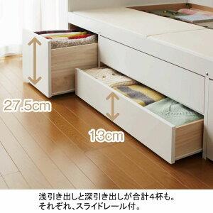 大量収納ベッドVBAAシングル1(宮無し/本体のみ)※メーカーお届け品(大量収納木製ベッドシングルベッド引き出し付きベッド収納付きベッド引出し付き)