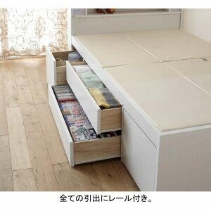 【送料無料】大量収納ベッドVBAAセミダブル2(宮無し/ポケットコイルマット付き)(zacca)(大量収納木製ベッドセミダブルベッド引き出し付きベッド収納付きベッド引出し付き)【大型】
