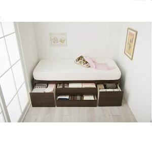 大量収納ベッドVBAAセミシングルショート(宮無し/本体のみ)※メーカーお届け品(大量収納木製ベッドセミシングルベッド引き出し付きベッド収納付きベッド引出し付き)